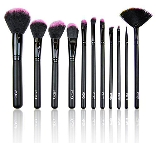 GG Beauty Synthetic Makeup Brush Set with Black Pouch
