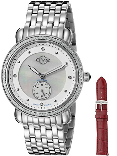 $1917.00 GV2 by Gevril Women's 9830 Marsala Analog Display Swiss