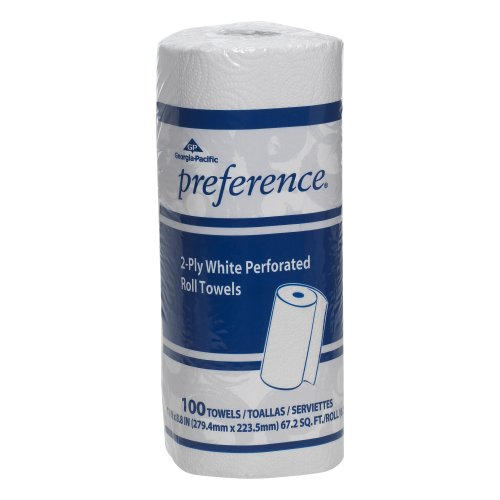Georgia-Pacific Preference 27300 White 2-ply Perforated Paper Towel Roll