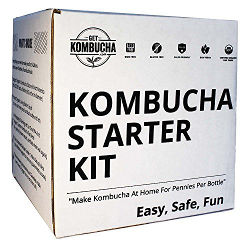 Kombucha Brewing Starter Kit: 6.5″ Organic SCOBY, Largest USDA