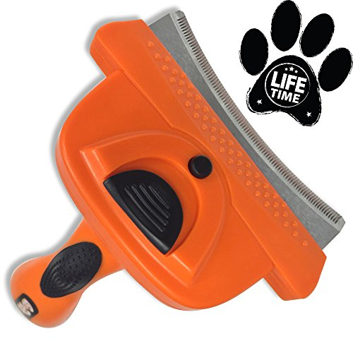 $24.99 GoPets Deshedding Tool with Self Cleaning Curved Comb, Sturdy