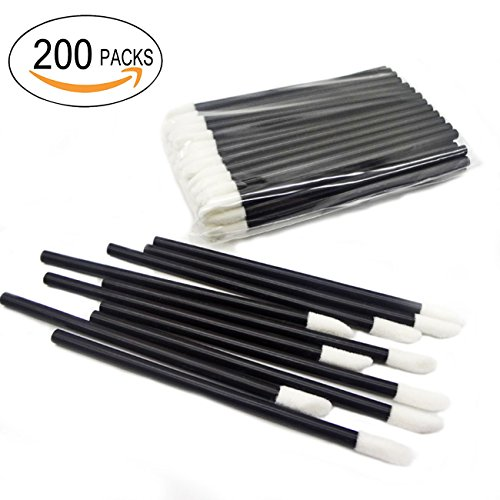 GoWorth 200Pcs/Set Disposable Lip Brushes Make Up Brush Lipstick