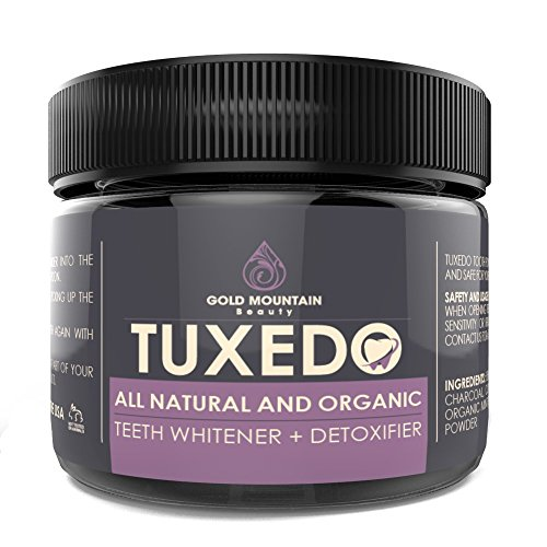 All Natural Charcoal Teeth Whitening, 'Tuxedo' Tooth and Gum