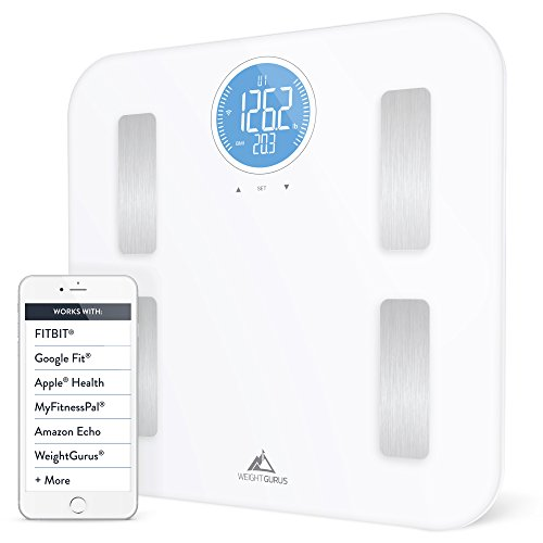 Weight Gurus Wifi Smart Connected Body Fat Scale with