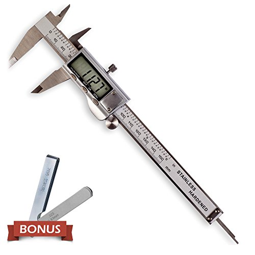 Digital Caliper - Stainless Steel - Large LCD Screen