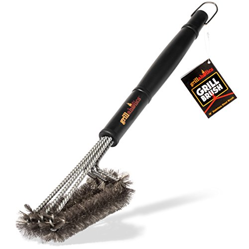Grillaholics Grill Brush, 1 Barbecue Grilling Accessories, Grill Healthier