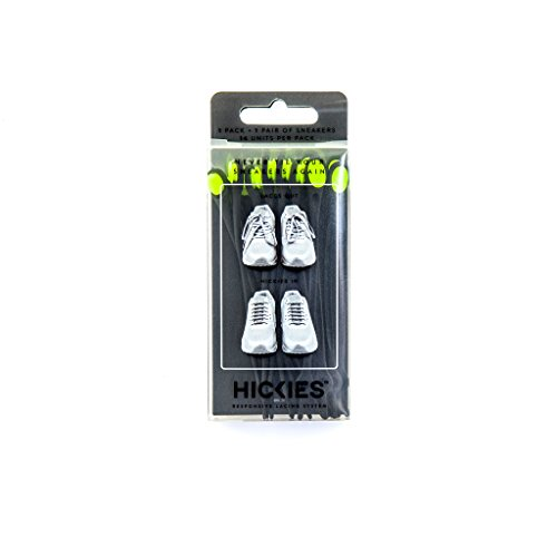HICKIES Elastic No-Tie Shoelaces, Black/Yellow
