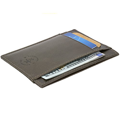 Hammer Anvil RFID Blocking Minimalist Genuine Leather Front Pocket