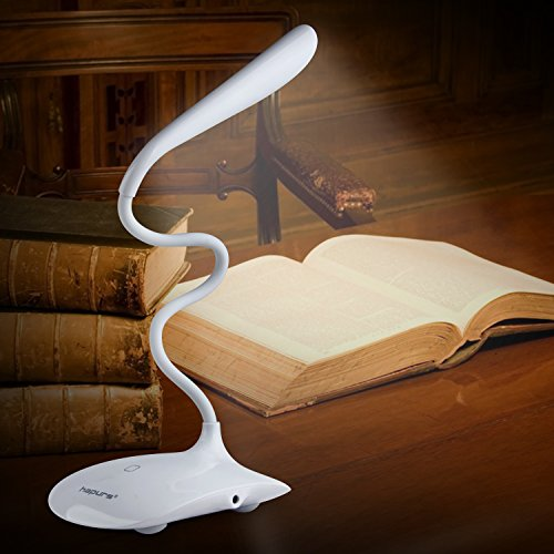 Hapurs Desk Reading Lamp Torch, Portable Flexible Eye-friendly Neck