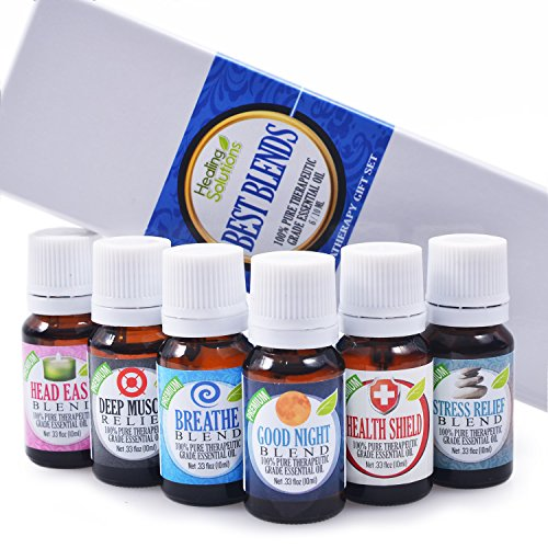 Best Blends Set of 6 100% Pure, Best Therapeutic