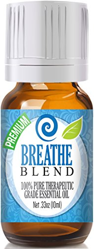 Breathe Blend 100% Pure, Best Therapeutic Grade Essential Oil