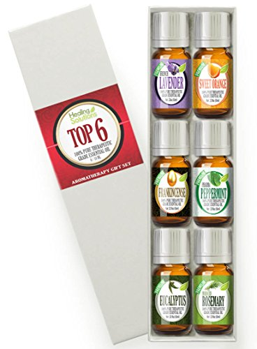 Aromatherapy Top 6 - 100% Pure Therapeutic Grade Basic