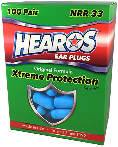 HEAROS Ear plugs – Xtreme Ear Protection Series,100 Pair