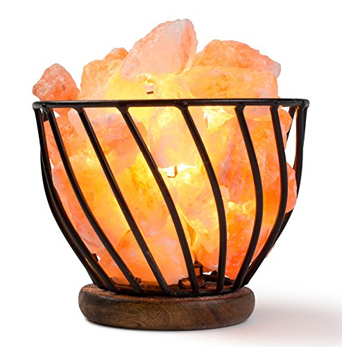 HemingWeigh Himalayan Salt Lamp Metal Bowl with Himalayan Salt