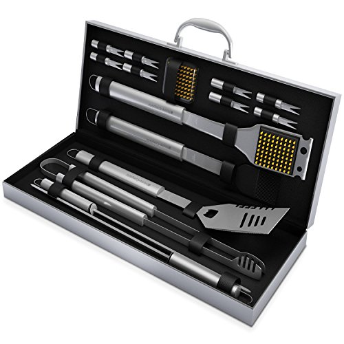 BBQ Grill Tools Set with 16 Barbecue Accessories –