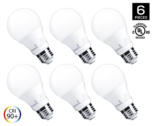 Hyperikon LED A19 Dimmable Bulb, 7W (40-Watt Equivalent), 2700K