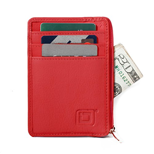 RFID Blocking Secure Mini Wallet - Red