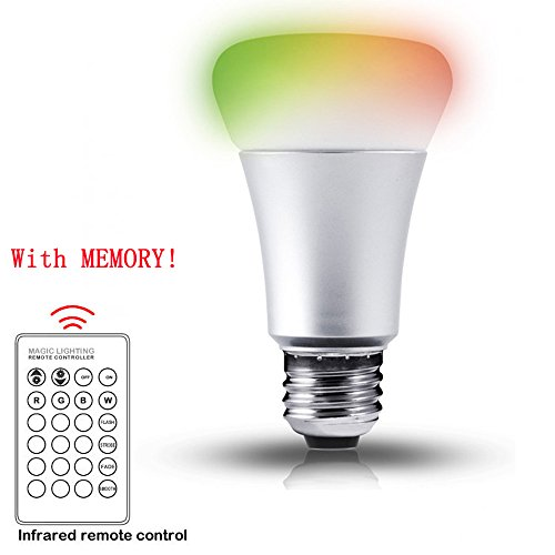 10W Dimmable A19 LED Bulbs, Color Changing, 270° Beam