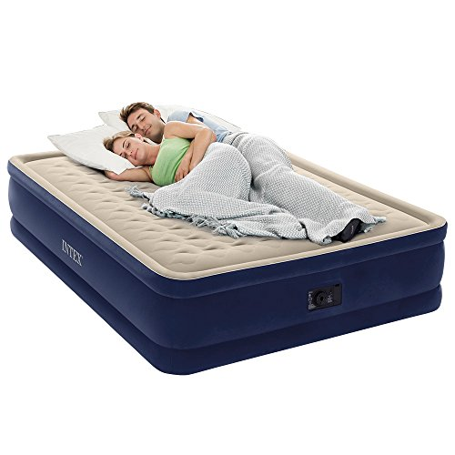 Intex Dura-Beam Series Elevated Deluxe Airbed with Built-In Electric