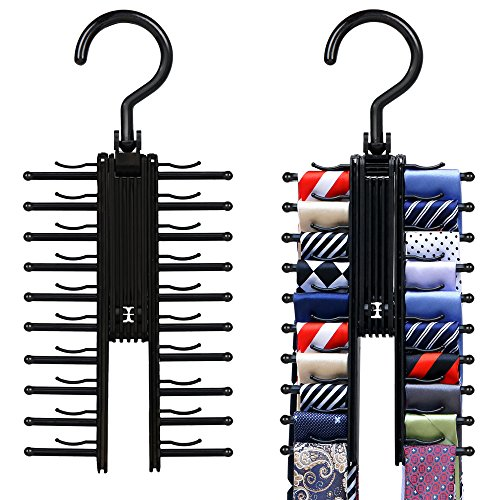 2 PCS Cross X Hangers,IPOW Black Tie Belt Rack