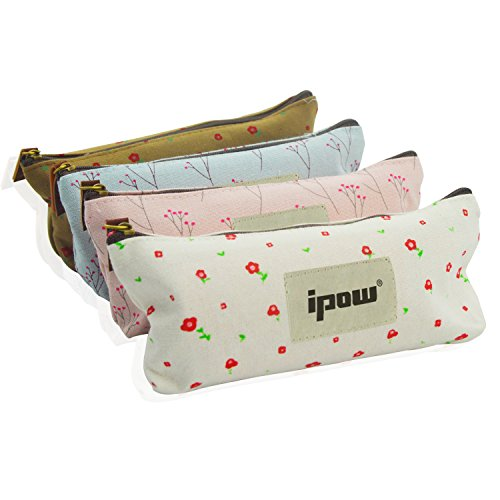 Pastorable Canvas Pen Pencil Stationery Pouch Bag Case,set of