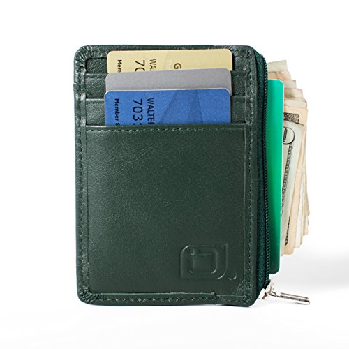 RFID Blocking Secure Mini Wallet (Forest Green)