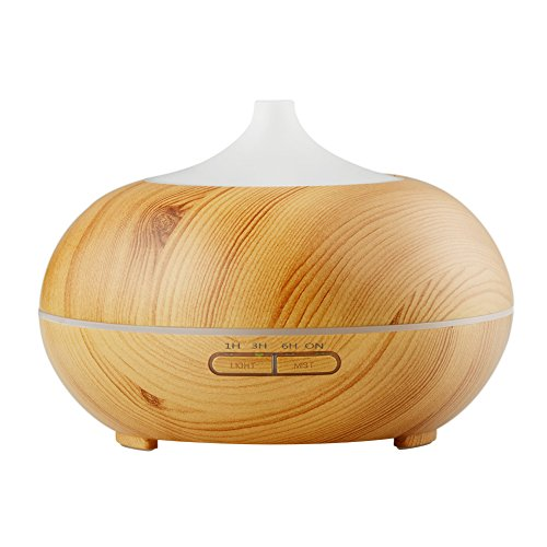InnoGear 300ml Wood Grain Essential Oil Diffuser