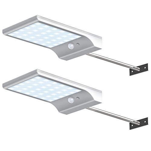 InnoGear Solar Gutter Lights Wall Sconces with Mounting Pole