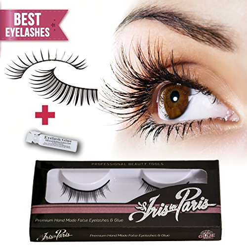 Professional False Eyelashes with Glue Set By Iris in