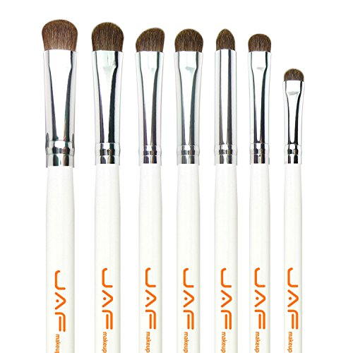 JAF Natural Hair Eye Makeup Brush Set (White)