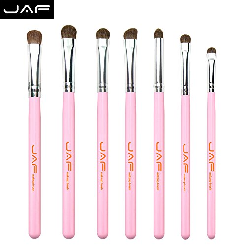 7pcs Pony Hair Eyeshadow Brush Set (Pink)