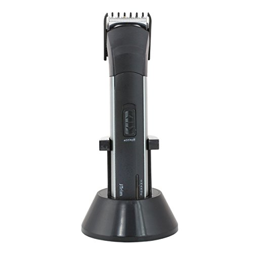 JTrim JPT-BT200 Rechargeable Stand Electric Cordless Beard Trimmer, Black