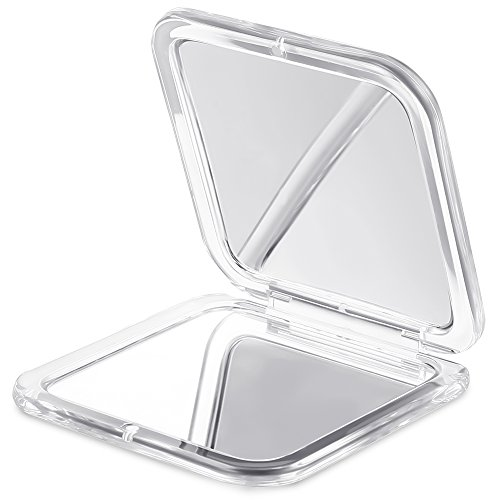 Jerrybox Double Sided Mirror, Compact Mirror, 5× Magnification +