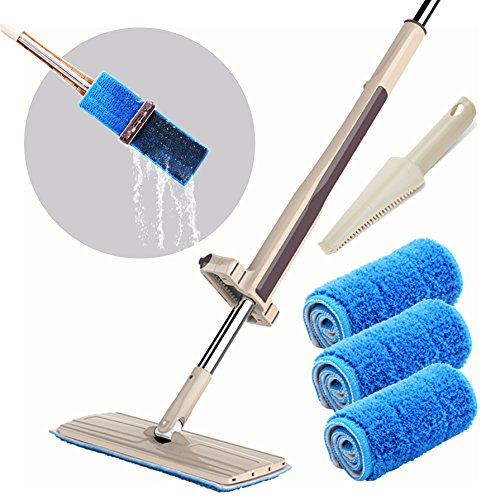 Joiedomi Automatic Squeezed Hands Free Microfiber Floor Mop with