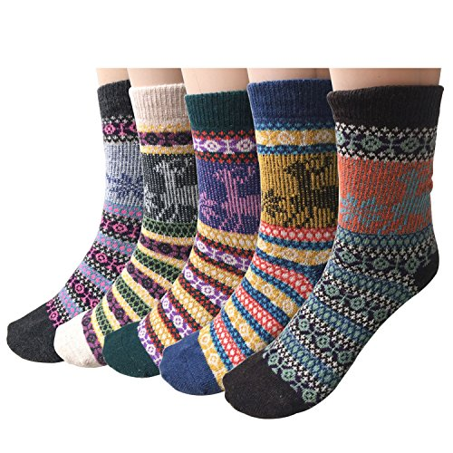 Pack of 5 Womens Vintage Style Cotton Knitting Wool