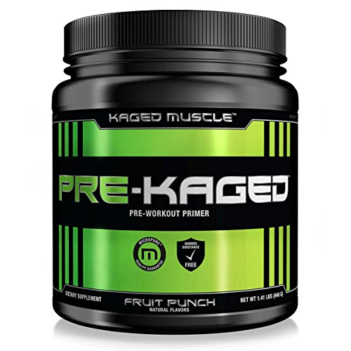 Pre Kaged Thermogenic Pre Workout Powder with BCAA, Creatine