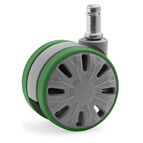 KATU F1GUAG65-23 Office Chair Caster Wheels Rubber PU Large