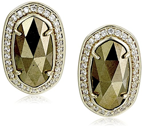 $70.00 Kendra Scott Elaine Gold Brown Pyrite Drop Earrings