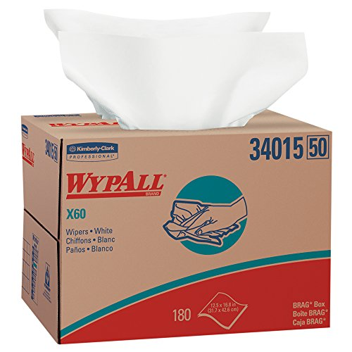 Wypall X60 Reusable Wipers (34015) in Brag Box, White