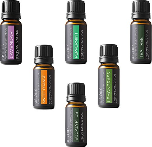 Aromatherapy Top 6 100% Pure Therapeutic Grade Basic Sampler