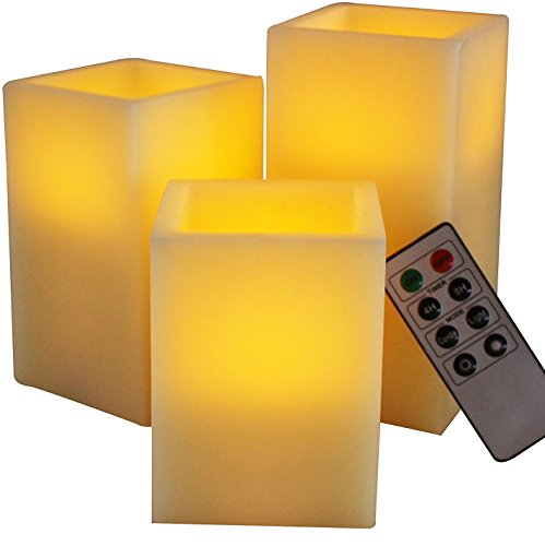 LED Lytes Flameless Candles, Battery Operated Set of 3