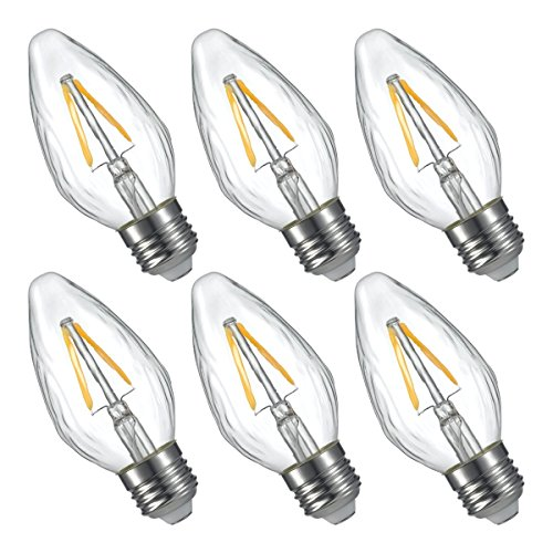 LIGHTSTORY F15 1.8W LED Decoration Bulb 25W Equivalent, E26