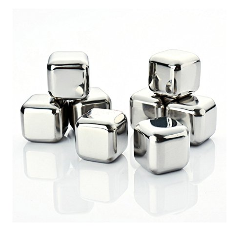 $13.42 Amerzam Set of 8 Stainless Steel Whiskey Stones with