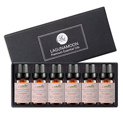 Aromatherapy Essential Oils Gift Set, Top 6 100% Pure