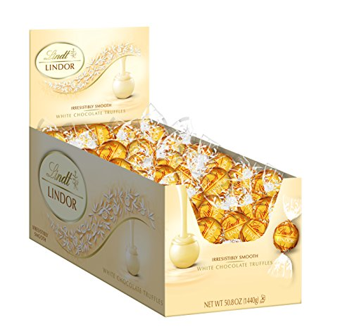 $25.49 Lindt LINDOR White Chocolate Truffles ,120 Count