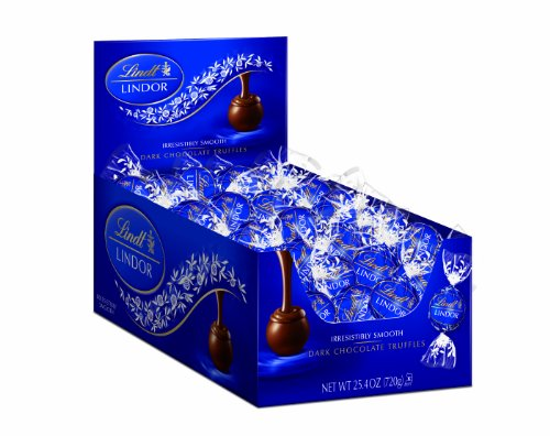 $14.05 Lindt LINDOR Dark Chocolate Truffles, 60 Count Box