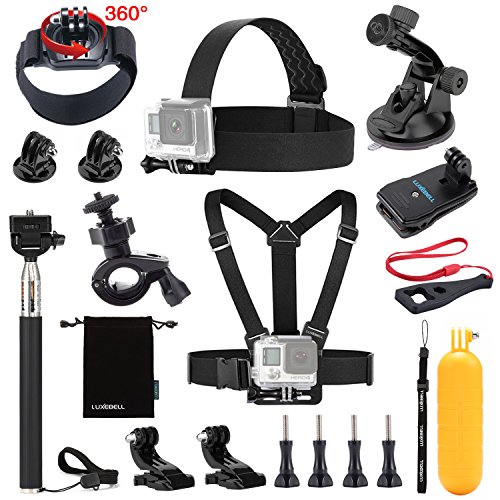 Luxebell 13-in-1 Essentials Accessories Kit for Gopro Hero 4