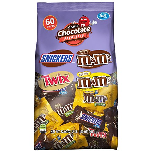 $9.99 MARS Chocolate Favorites Fun Size Candy Bars Variety Mix