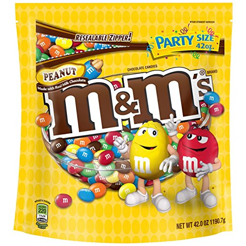 $4.00 MM'S Peanut Chocolate Candy Party Size 42-Ounce Bag