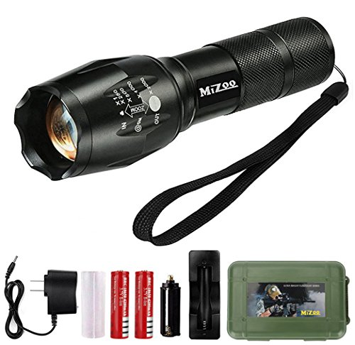 MIZOO LED Flashlight Torch Adjustable Focus Zoomable Mini Generic